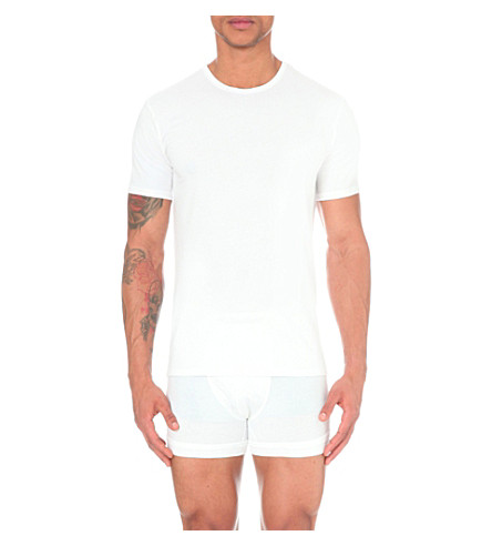 CALVIN KLEIN Two pack crew-neck t-shirts (White