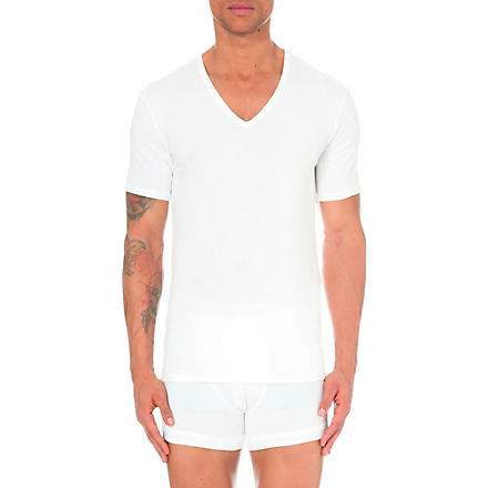 CALVIN KLEIN Pack of two v–neck t–shirts (White