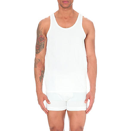 CALVIN KLEIN Two pack crew–neck vests (White