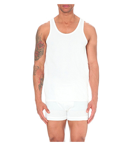 CALVIN KLEIN Two pack crew-neck vests (White