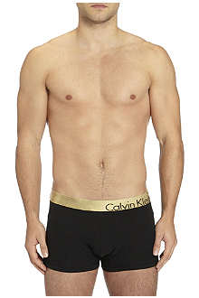 CALVIN KLEIN Bold metallic waistband trunks