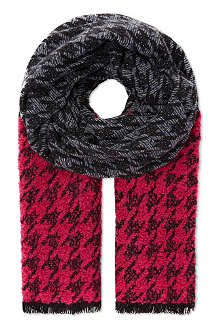 MARC BY MARC ACCS Terence houndstooth wool-blend scarf