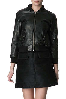 MARC BY MARC JACOBS Gia spotted-leather bomber jacket