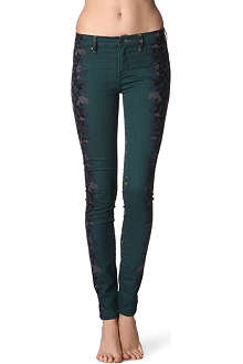MARC BY MARC JACOBS Stick floral-panel mid-rise jeans