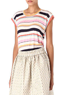 MARC BY MARC JACOBS Smashed stripe jersey t-shirt