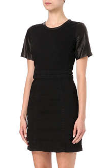 MARC BY MARC JACOBS Dempsey leather-sleeve dress