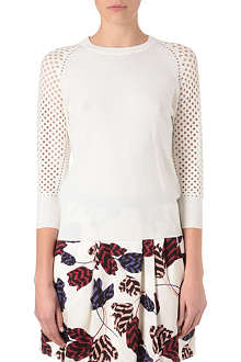MARC BY MARC JACOBS Crochet knitted sweatshirt