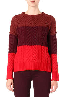 MARC BY MARC JACOBS Connolly striped cable-knit jumper