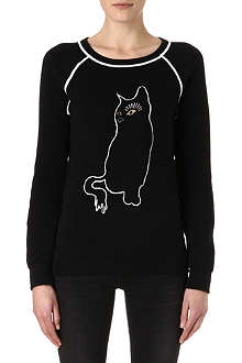 MARC BY MARC JACOBS Cat intarsia sweatshirt