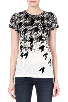 MARC BY MARC JACOBS Flocked houndstooth t-shirt