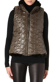 MARC BY MARC JACOBS Faux fur-collar quilted gilet