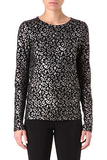 MARC BY MARC JACOBS Sasha leopard-print top