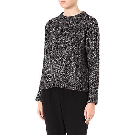 MARC BY MARC JACOBS Sparkle cable-knit jumper (Black