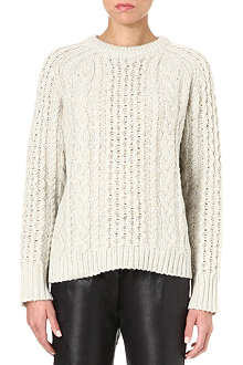 MARC BY MARC JACOBS Sparkle cable-knit jumper