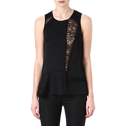 MARC BY MARC JACOBS Victoria lace sleeveless top (Black
