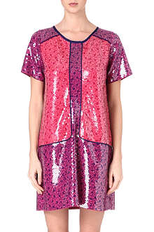 MARC BY MARC JACOBS Floral-print sequinned dress