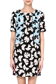 MARC BY MARC JACOBS Pinwheel floral-print silk dress
