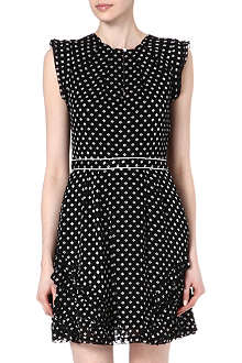 MARC BY MARC JACOBS Diamond-print frilled silk dress