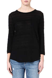 MARC BY MARC JACOBS Eloise sheer-striped t-shirt