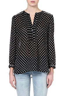MARC BY MARC JACOBS Diamond-print silk blouse