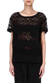 MARC BY MARC JACOBS Leila lace-panel top