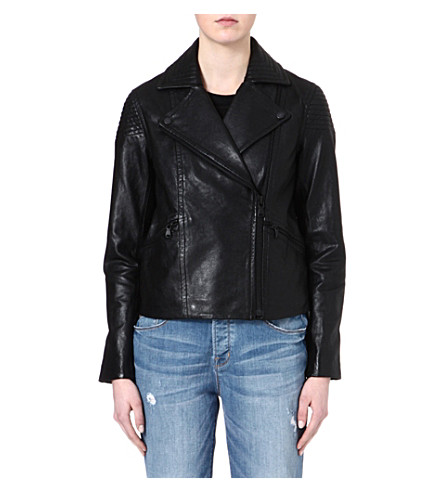 MARC BY MARC JACOBS Karlie leather jacket (Black