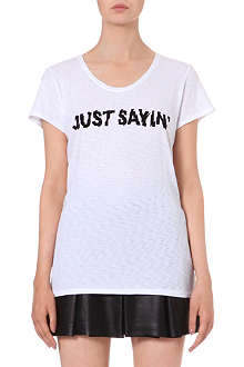 MARC BY MARC JACOBS Just Sayin' printed t-shirt