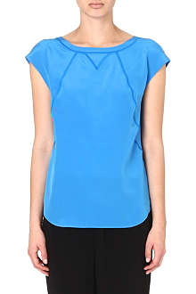 MARC BY MARC JACOBS Sky blue silk T-shirt