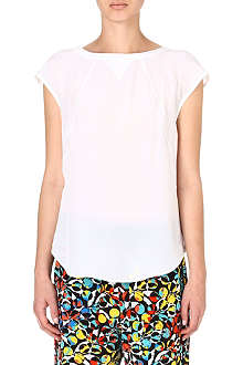 MARC BY MARC JACOBS White silk T-shirt