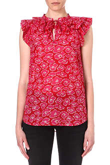 MARC BY MARC JACOBS Ruffled floral-print top