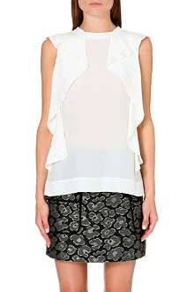 MARC BY MARC JACOBS Frances ruffle-detail silk top