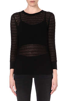MARC BY MARC JACOBS Rose sheer-detail jumper
