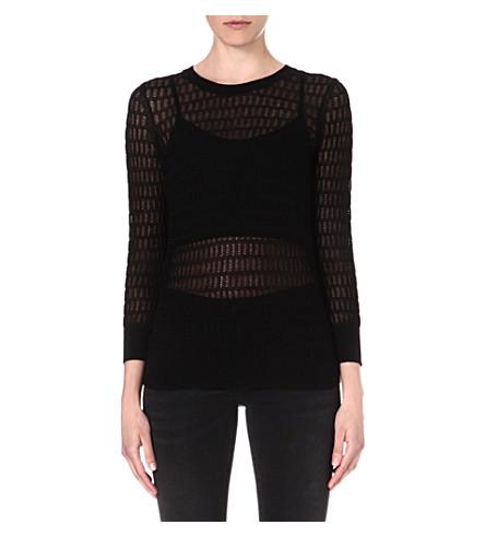 MARC BY MARC JACOBS Rose sheer-detail jumper (Black