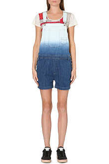 MARC BY MARC JACOBS Ombre effect denim short overalls