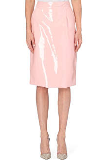 MARC BY MARC JACOBS Patent midi skirt