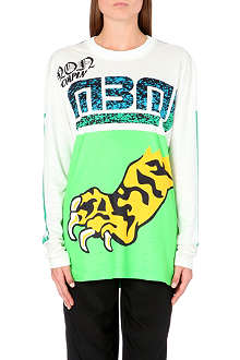 MARC BY MARC JACOBS Rally Motorcross Tiger jersey top