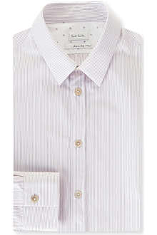 PAUL SMITH MAINLINE Striped slim-fit single-cuff shirt