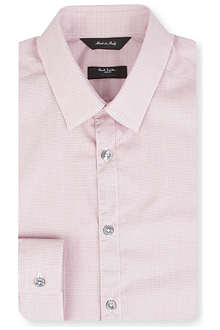 PAUL SMITH LONDON Byard micro check single-cuff shirt
