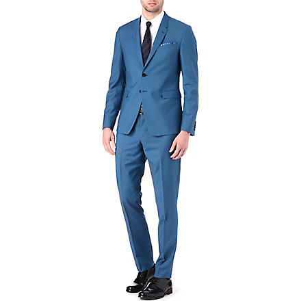 PAUL SMITH LONDON Wool-blend suit (Turquoise