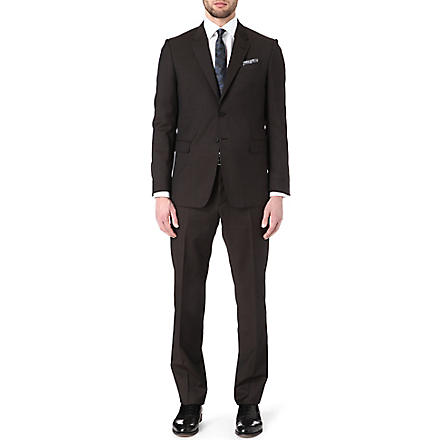 PAUL SMITH LONDON Byard pindot suit (Chocolate