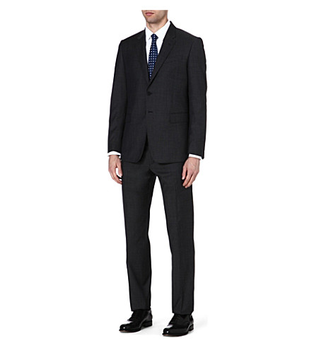 PAUL SMITH LONDON The Byard birdseye wool suit (Charcoal