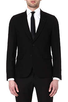 PAUL SMITH MAINLINE Crosshatch wool and silk-blend blazer