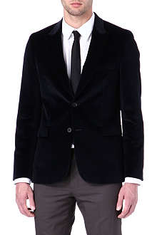 PAUL SMITH MAINLINE Single-breasted velvet blazer