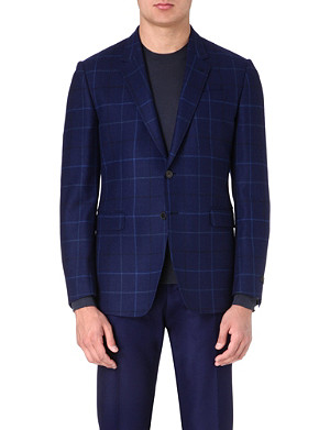 PAUL SMITH LONDON Check-print wool jacket