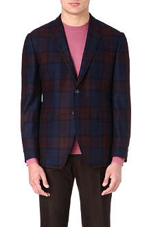 PAUL SMITH LONDON Check-print tailored jacket