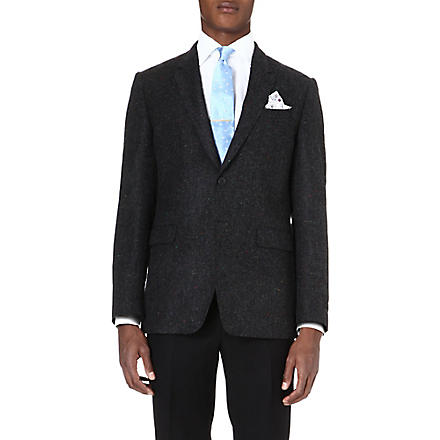 PAUL SMITH LONDON Herringbone wool jacket (Grey