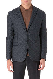 PAUL SMITH LONDON Quilted wool check blazer