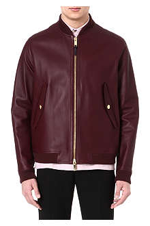 PAUL SMITH LONDON Bonded leather jacket