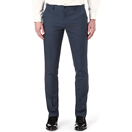 PAUL SMITH MAINLINE Slim-fit wool trousers (Petrol