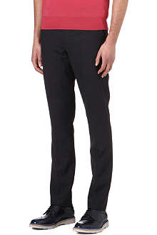 PAUL SMITH MAINLINE Crosshatch wool trousers